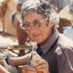 Mavis Russell with a Red Knot